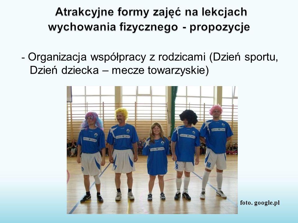 - Organizacja współpracy z rodzicami (Dzień sportu, Dzień dziecka – mecze towarzyskie) foto. google.pl