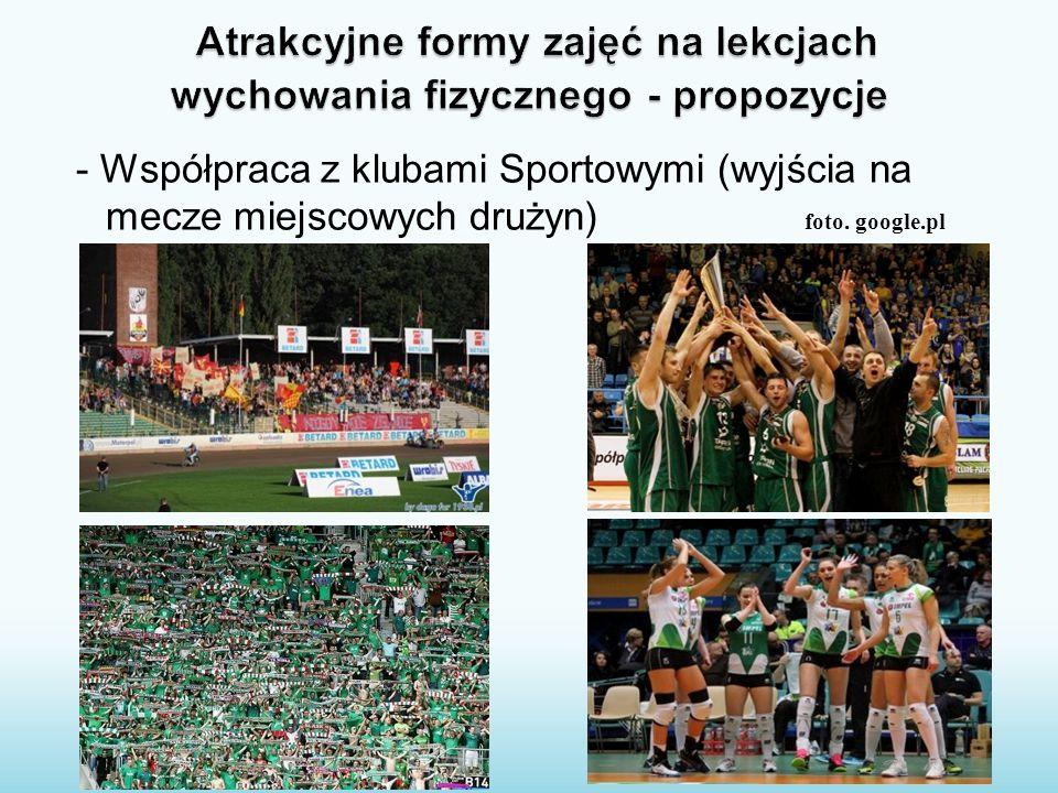 - Współpraca z klubami Sportowymi (wyjścia na mecze miejscowych drużyn) foto. google.pl