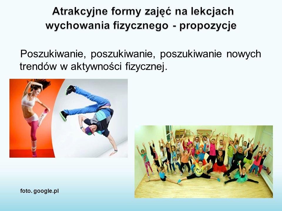 Poszukiwanie, poszukiwanie, poszukiwanie nowych trendów w aktywności fizycznej. foto. google.pl
