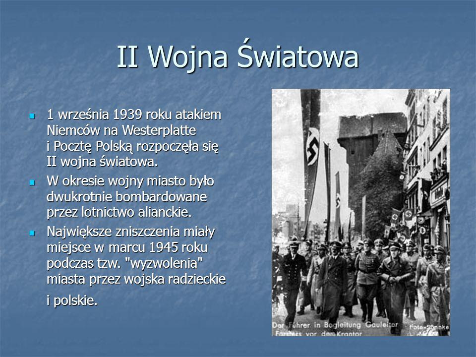 II Wojna Światowa 1 września 1939 roku atakiem Niemców na Westerplatte i Pocztę Polską rozpoczęła się II wojna światowa. 1 września 1939 roku atakiem
