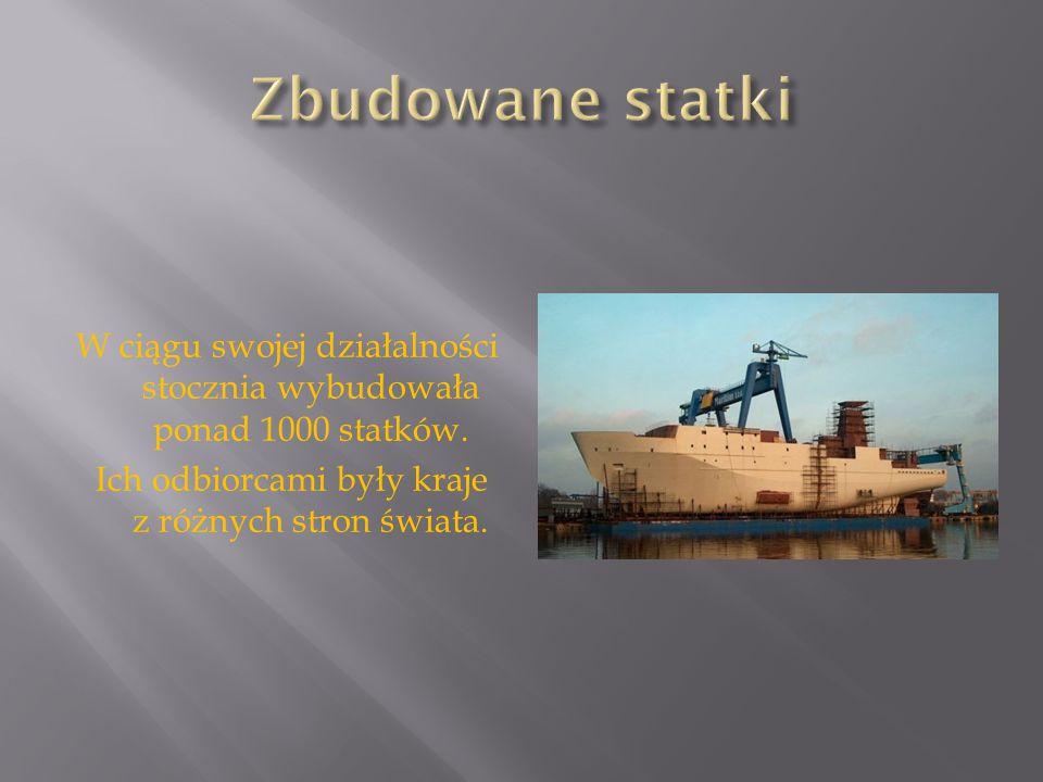 W ciągu swojej działalności stocznia wybudowała ponad 1000 statków. Ich odbiorcami były kraje z różnych stron świata.