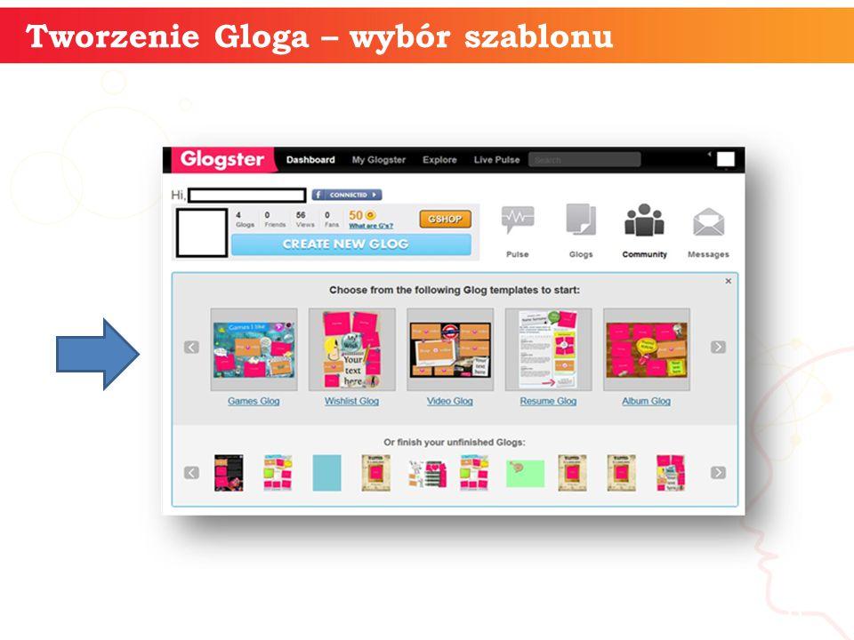 Tworzenie Gloga – wybór szablonu informatyka + 6
