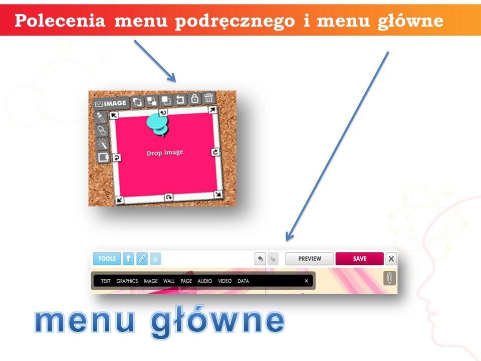 Polecenia menu podręcznego i menu główne informatyka + 7
