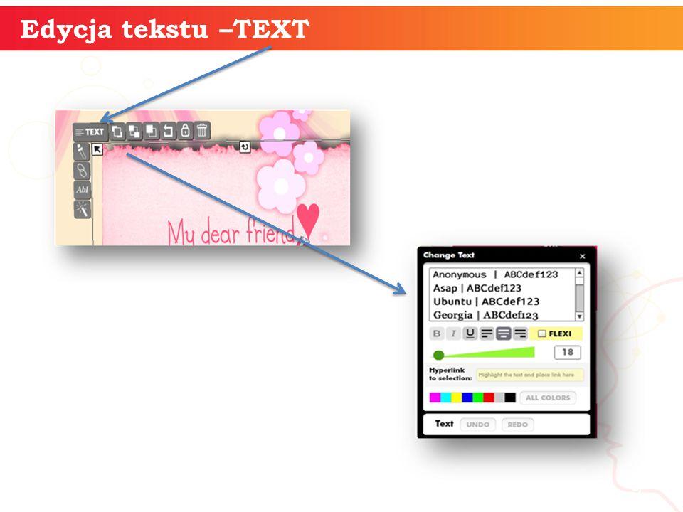 Edycja tekstu –TEXT informatyka + 9