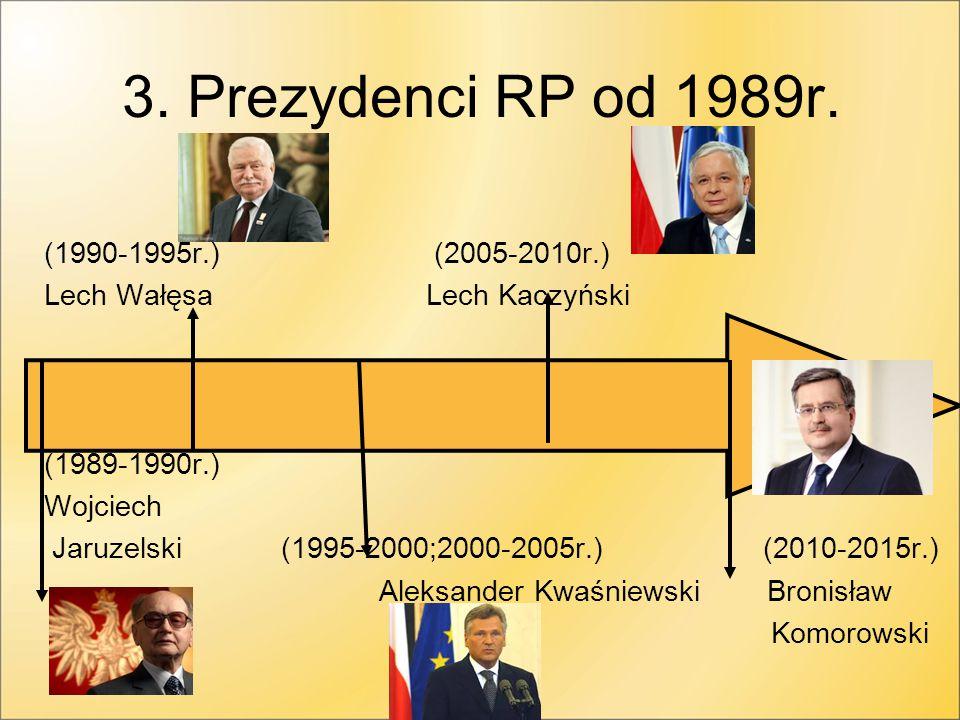 3.Prezydenci RP od 1989r.