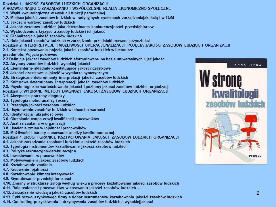Struktura Księgi jakości 13Technologia kształcenia zawodowego 7.