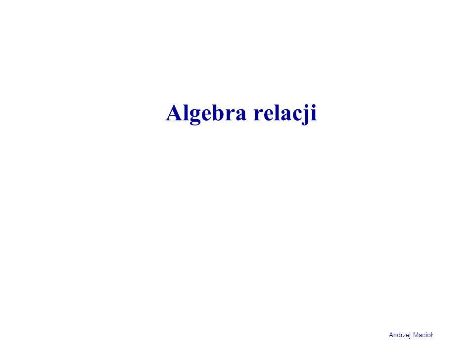 Andrzej Macioł Algebra relacji