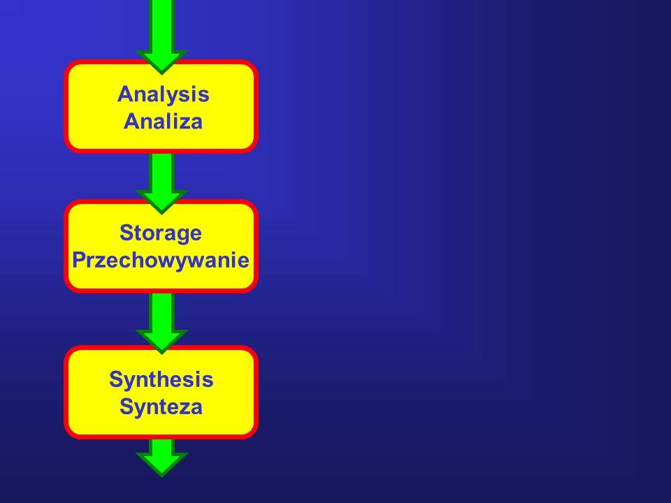 Analysis Analiza Storage Przechowywanie Synthesis Synteza