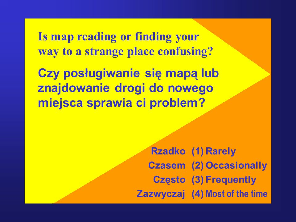 Is map reading or finding your way to a strange place confusing.