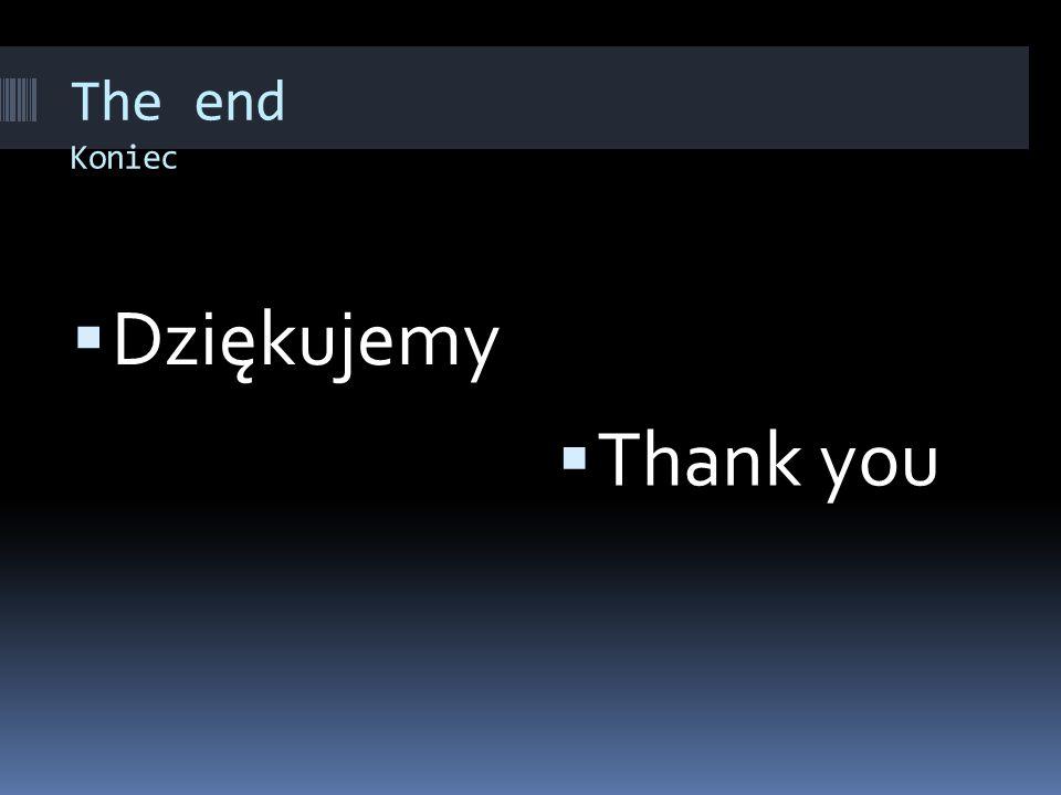 The end Koniec  Dziękujemy  Thank you