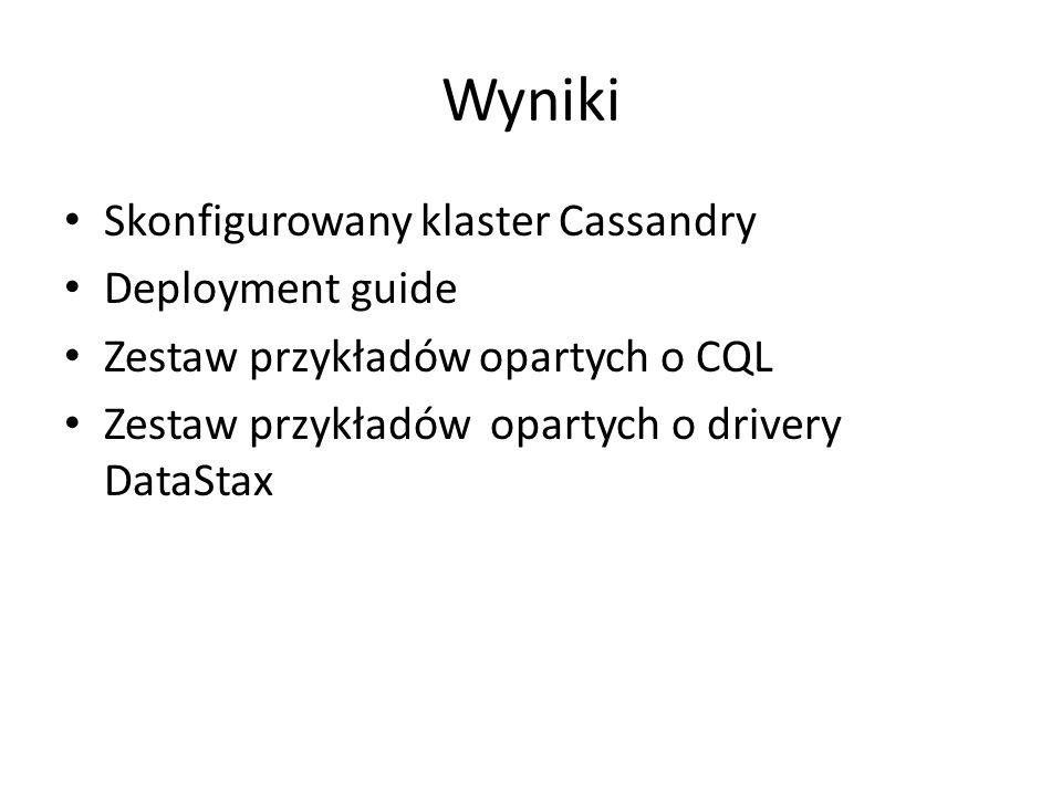 Problemy Wybór technologii: – DataStax vs.Apache Cassandra – Oracle JRE vs.