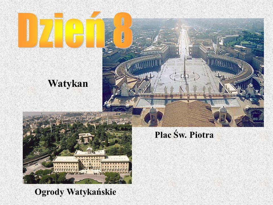Watykan Plac Św. Piotra Ogrody Watykańskie