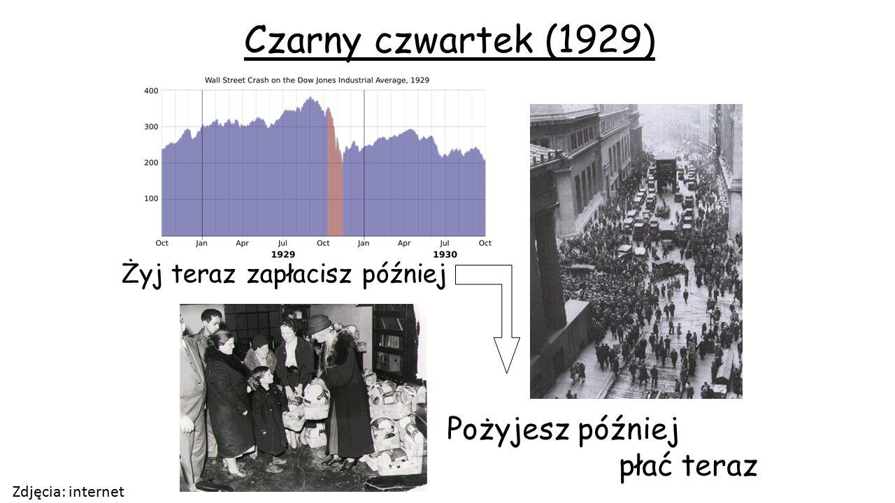 Żyj teraz zapłacisz później Czarny czwartek (1929) Pożyjesz później płać teraz Zdjęcia: internet
