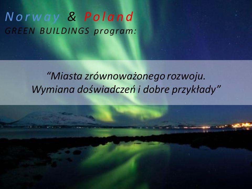 Norway & Poland GREEN BUILDINGS program: Miasta zrównoważonego rozwoju.