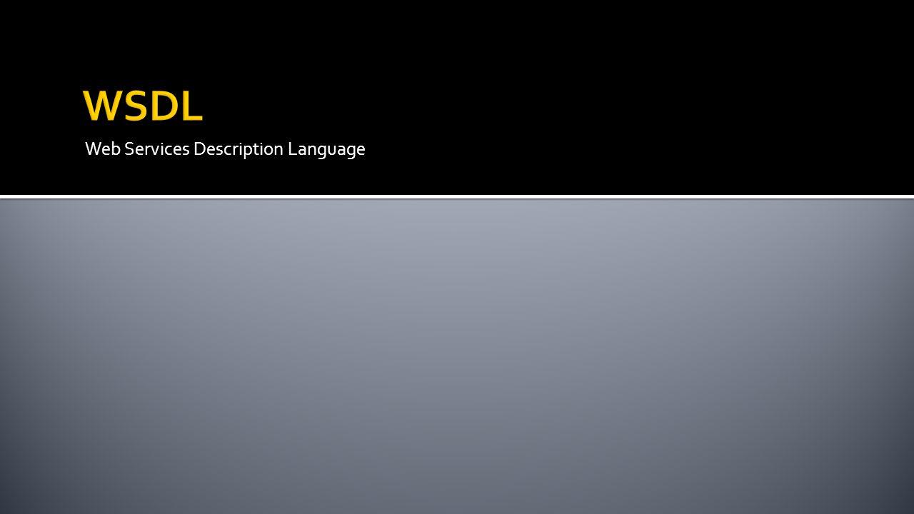 Web Services Description Language