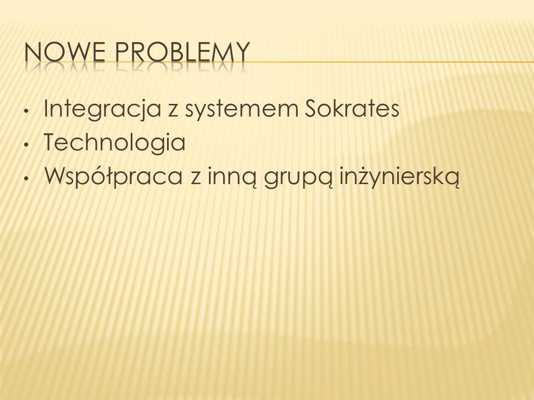 Integracja z systemem Sokrates Technologia Współpraca z inną grupą inżynierską