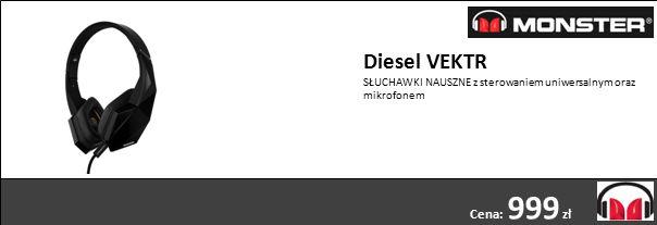 Diesel VEKTR SŁUCHAWKI NAUSZNE z sterowaniem uniwersalnym oraz mikrofonem Cena: 999 zł