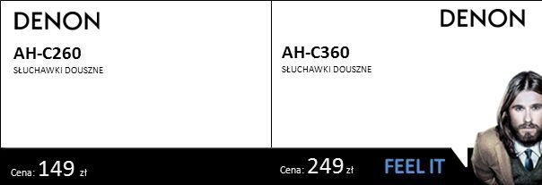 Cena: 149 zł Cena: 249 zł AH-C260 SŁUCHAWKI DOUSZNE AH-C360 SŁUCHAWKI DOUSZNE