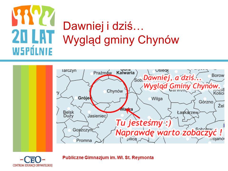 Dawniej i dziś… Wygląd gminy Chynów Publiczne Gimnazjum im. Wł. St. Reymonta