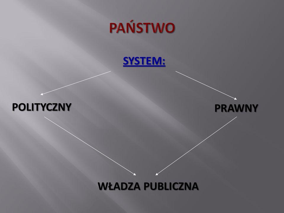 SYSTEM: POLITYCZNY WŁADZA PUBLICZNA PRAWNY