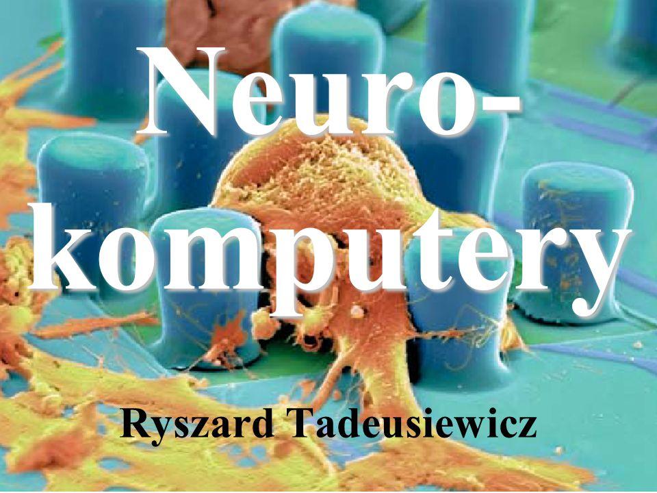 Uczenie sieci polega teraz na takim doborze jej parametrów, żeby zminimalizować błąd, jaki popełnia sieć przetwarzając dane ze zbioru uczącego Błąd Robi to algorytm uczenia Na podstawie błędu zmienia się wagi wszystkich neuronów w sieci, tak żeby malał błąd Porównanie zawartej w danych wzorcowej odpowiedzi z wynikiem obliczonym przez sieć daje błąd