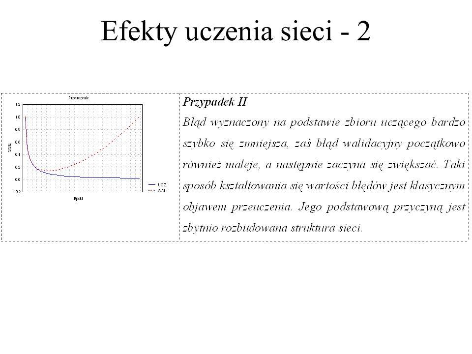 Efekty uczenia sieci - 1