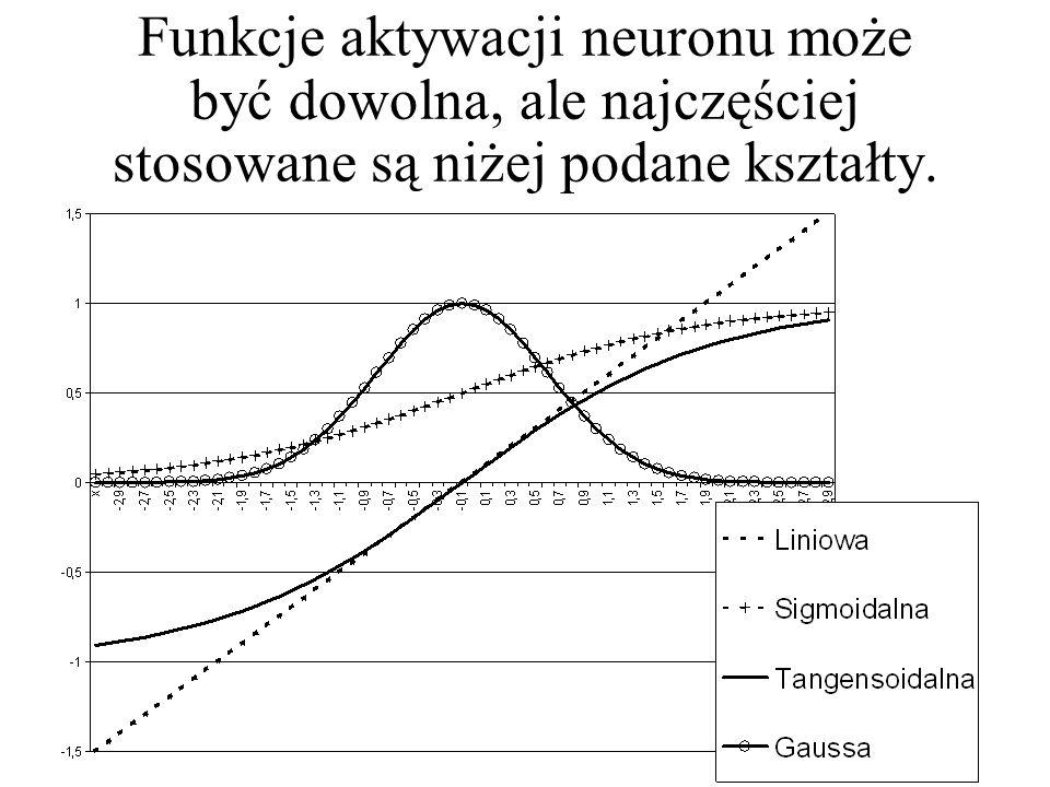 W przypadku neuronu nieliniowego nie jest tak łatwo, ponieważ zagregowany (w taki lub inny sposób) sygnał wejściowy może być przetworzony przy użyciu funkcji nieliniowej o teoretycznie dowolnym kształcie.