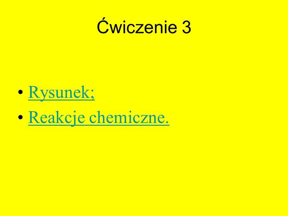 Ćwiczenie 3 Rysunek; Reakcje chemiczne.