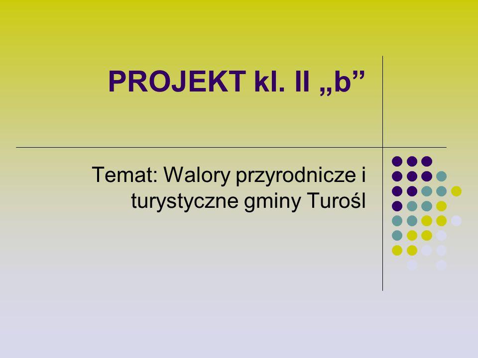 """PROJEKT kl. II """"b"""" Temat: Walory przyrodnicze i turystyczne gminy Turośl"""