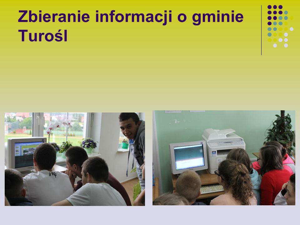 Zbieranie informacji o gminie Turośl