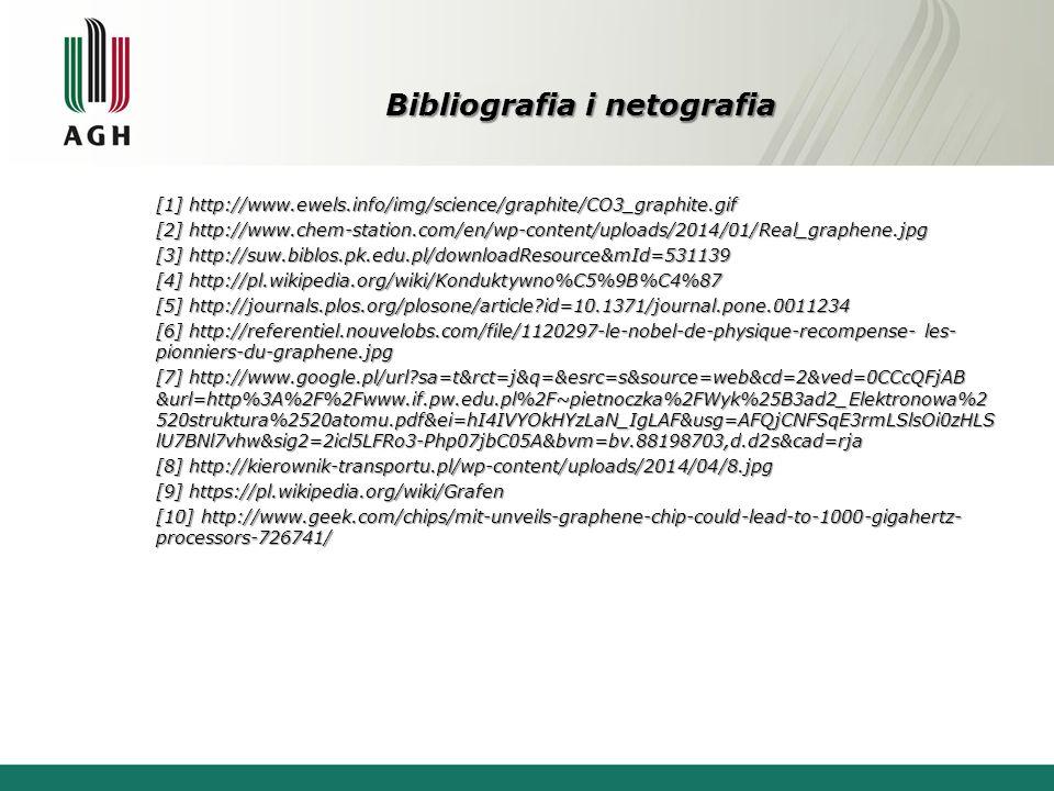 Bibliografia i netografia [1] http://www.ewels.info/img/science/graphite/CO3_graphite.gif [2] http://www.chem-station.com/en/wp-content/uploads/2014/0