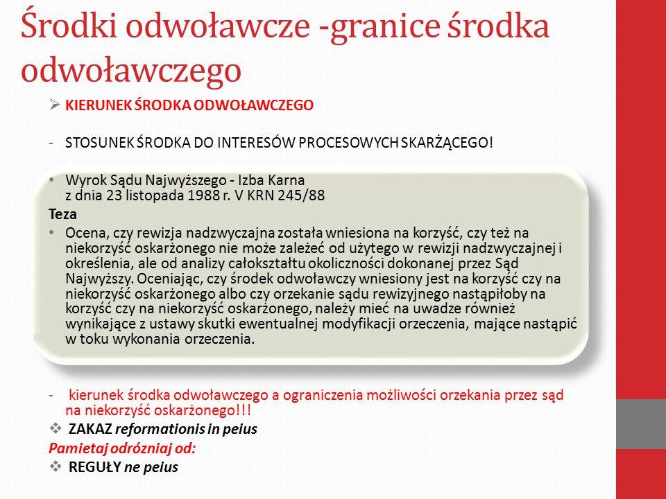 Środki odwoławcze -granice środka odwoławczego Art.
