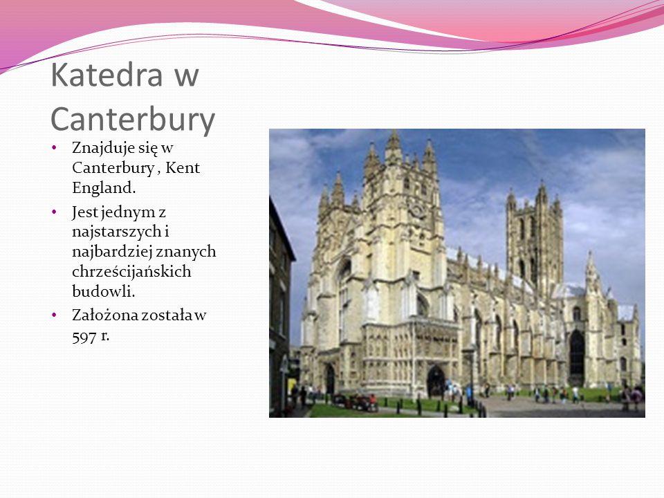 Katedra w Canterbury Znajduje się w Canterbury, Kent England.