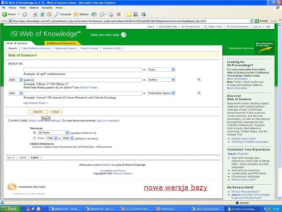 2. Wyszukiwanie cytowań poprzez Cited Reference Search