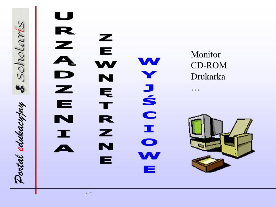 Portal edukacyjny A.Ś. Monitor CD-ROM Drukarka …