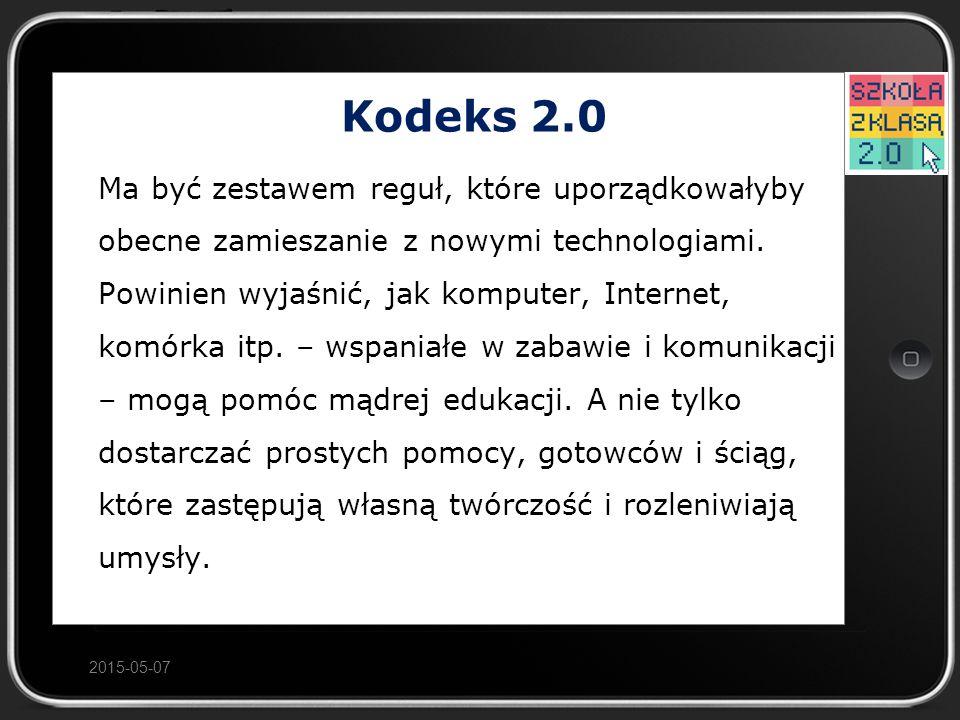 Kodeks 2.0 Ma być zestawem reguł, które uporządkowałyby obecne zamieszanie z nowymi technologiami.