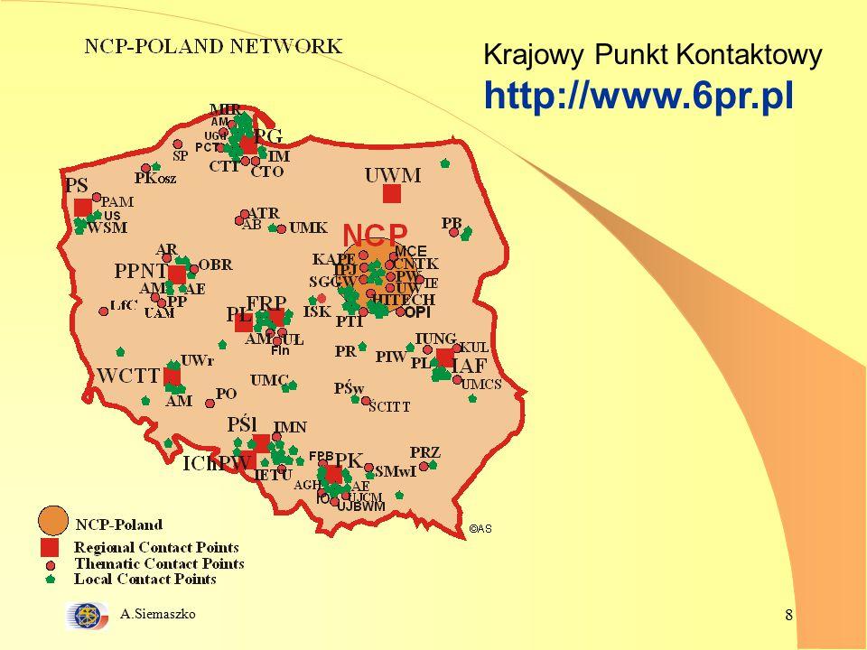 A.Siemaszko 8 Krajowy Punkt Kontaktowy http://www.6pr.pl