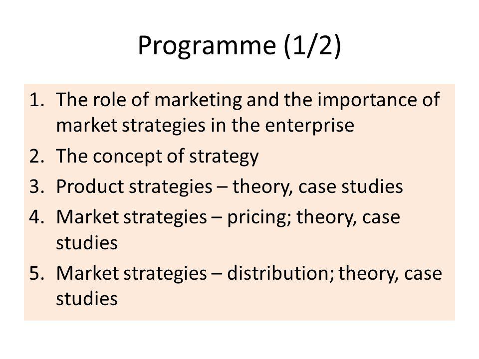 Programme (2/2) 6.Market strategies - information / promotion (theory, case studies) 7.