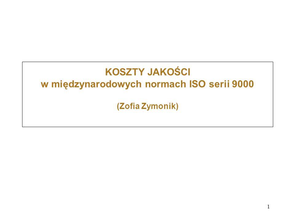 1 KOSZTY JAKOŚCI w międzynarodowych normach ISO serii 9000 (Zofia Zymonik)