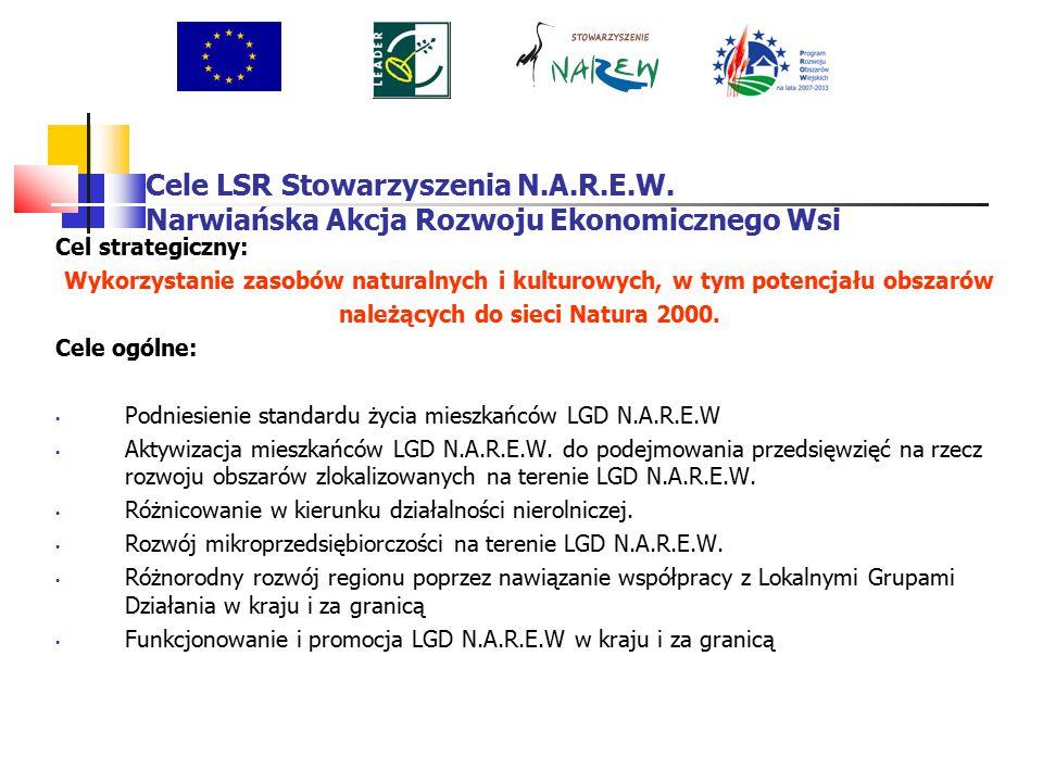 Cele LSR Stowarzyszenia N.A.R.E.W.Narwiańska Akcja Rozwoju Ekonomicznego Wsi 3.