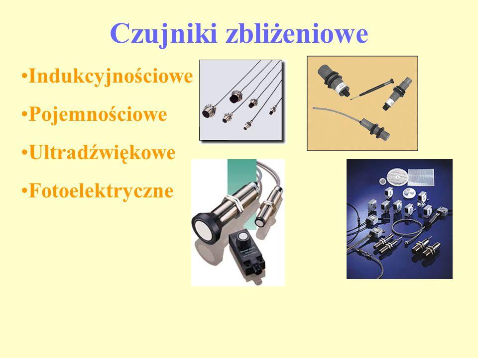 Czujniki zbliżeniowe Indukcyjnościowe Pojemnościowe Ultradźwiękowe Fotoelektryczne