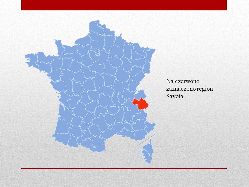 Na czerwono zaznaczono region Savoia