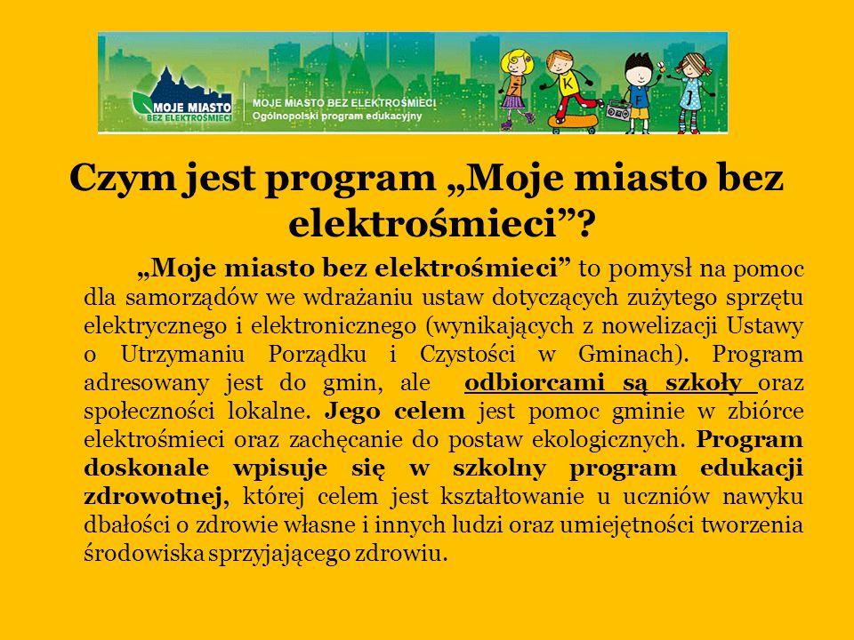 """Czym jest program """"Moje miasto bez elektrośmieci ."""