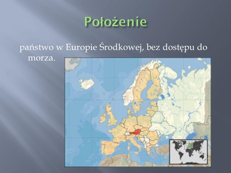 państwo w Europie Środkowej, bez dostępu do morza.