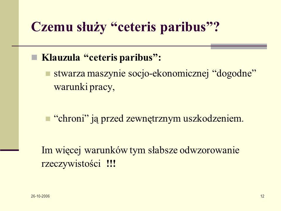 26-10-2006 12 Czemu służy ceteris paribus .