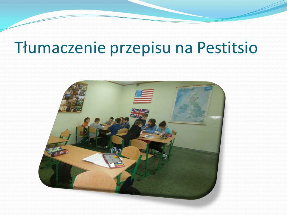 Tłumaczenie przepisu na Pestitsio