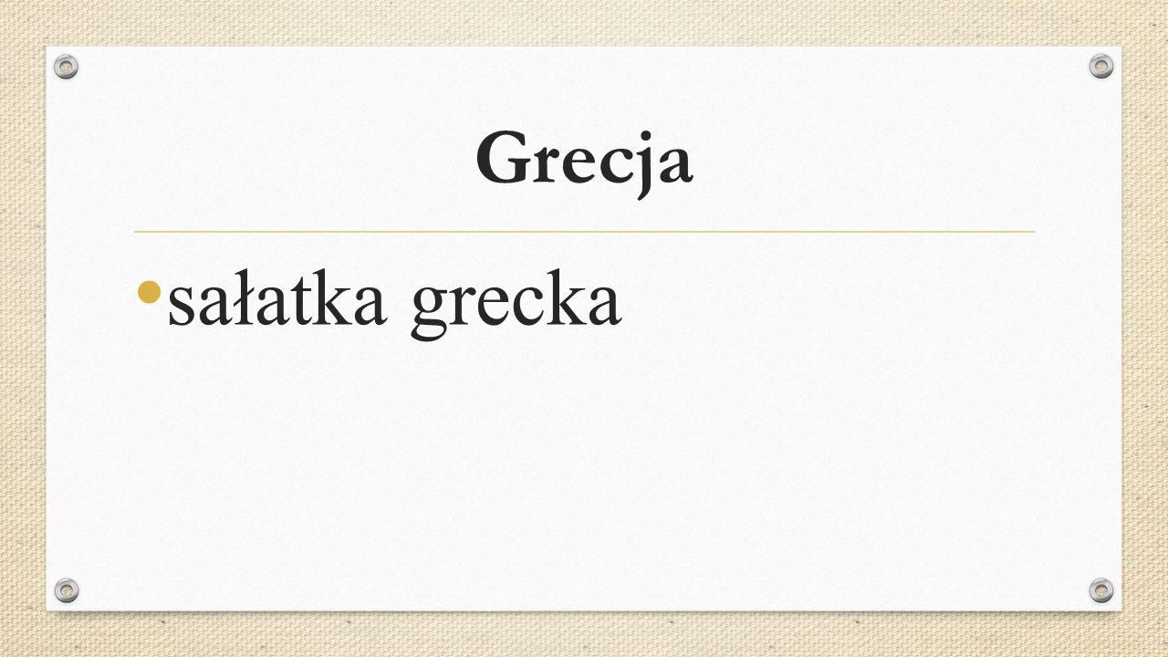 Grecja sałatka grecka