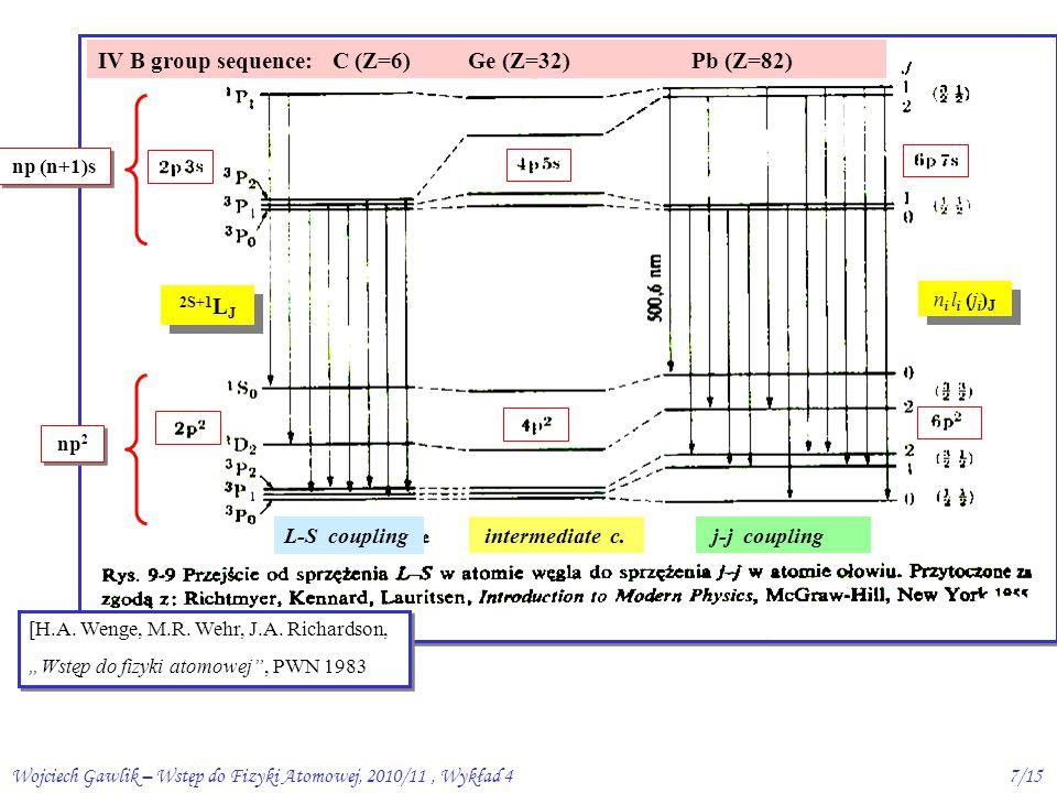 Wojciech Gawlik – Wstęp do Fizyki Atomowej, 2010/11, Wykład 47/15 [H.A.