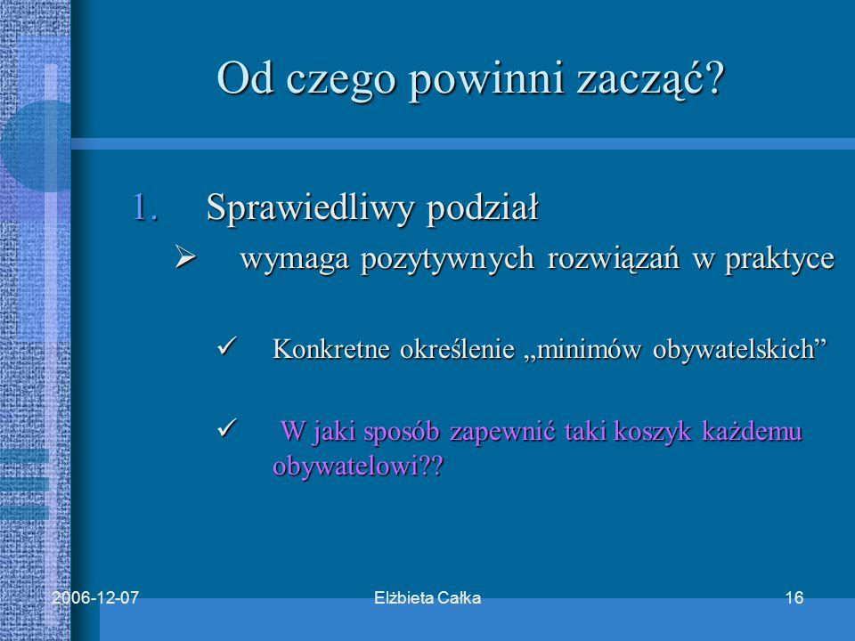 Elżbieta Całka162006-12-07 Od czego powinni zacząć.