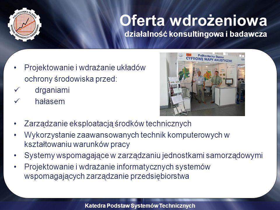 Katedra Podstaw Systemów Technicznych Zapraszamy do współpracy.
